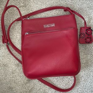 New! Kenneth Cole Reaction Red Crossbody Bag